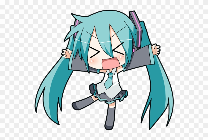 Hatsune Miku Clipart Simple.