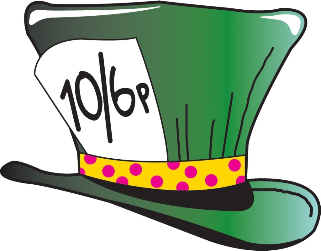 Mad hatter clipart.