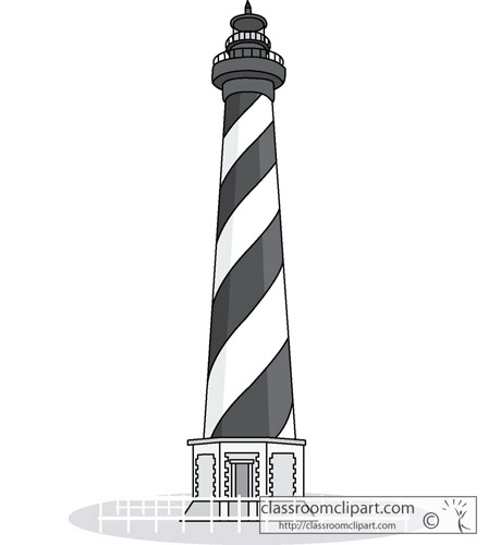 Cape Lookout Lighthouse Clipart.