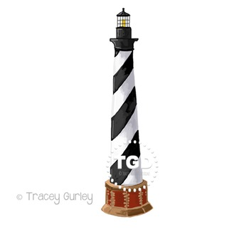 Cape Hatteras Lighthouse Clip Art Printable Tracey Gurley Designs.