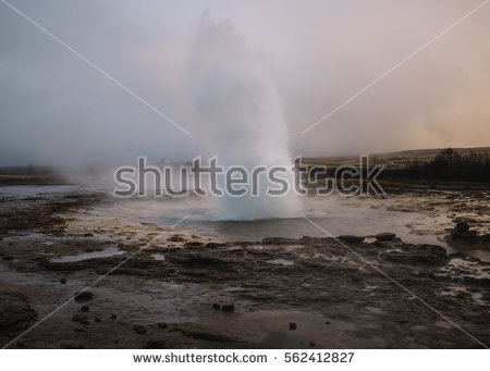 Geysers Valley Stock Photos, Royalty.