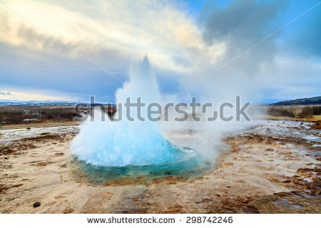 Geysir Stock Photos, Royalty.