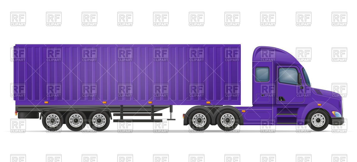 Haulage (container) truck Vector Image #100886.