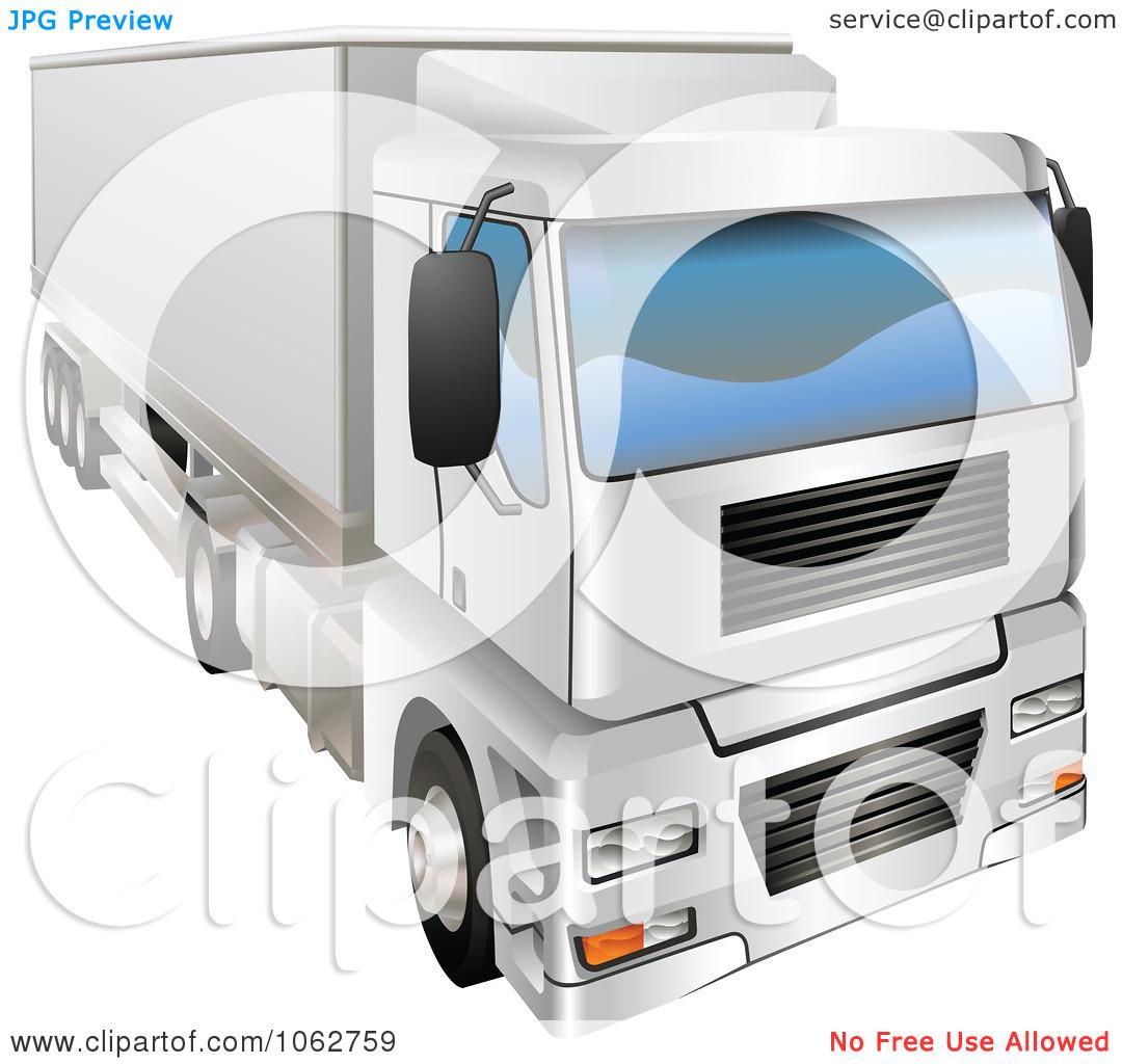 Clipart 3d Haulage Big Rig Truck.