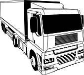 Clipart of Cargo logistics transport illustration k13570864.