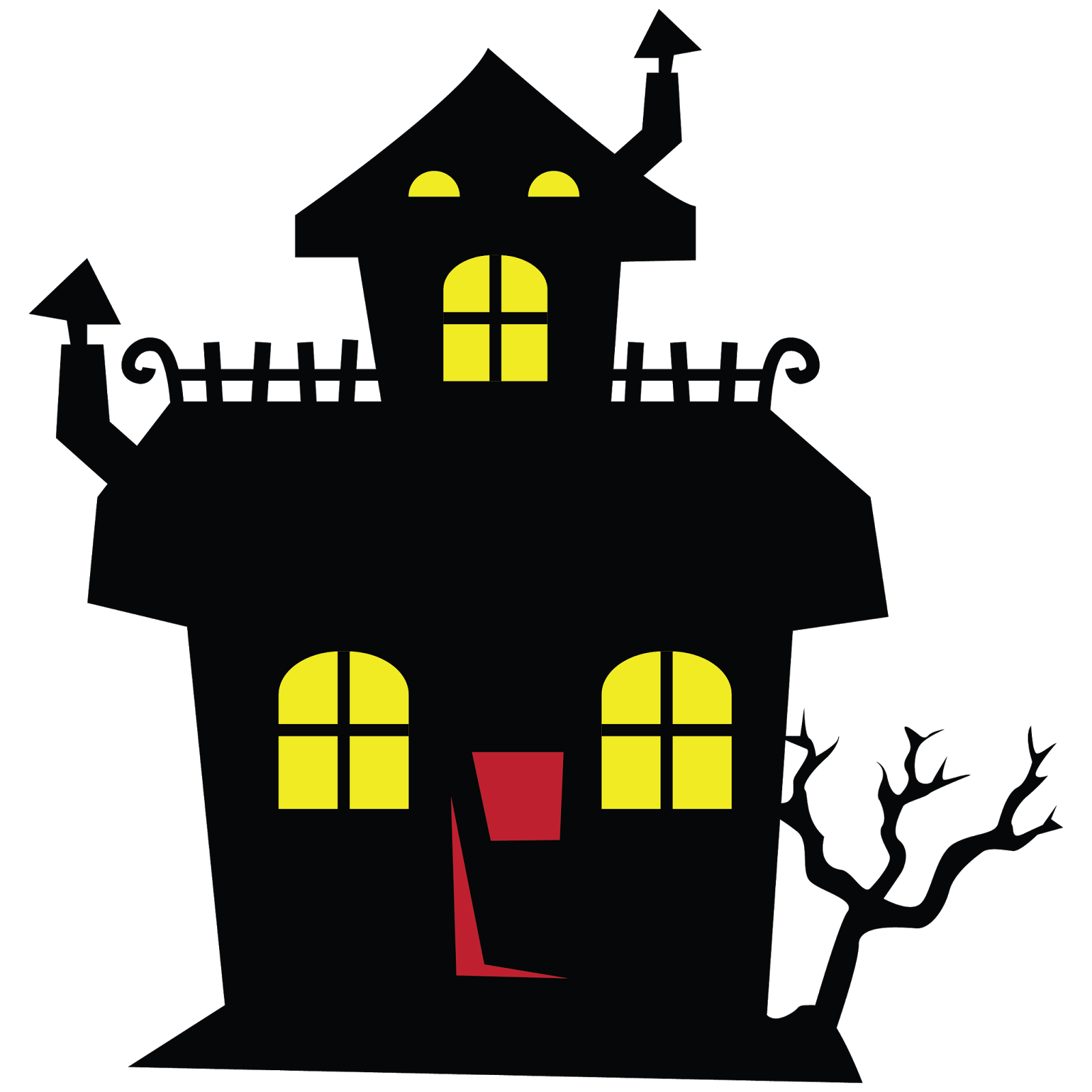 Haunted house clipart halloween.