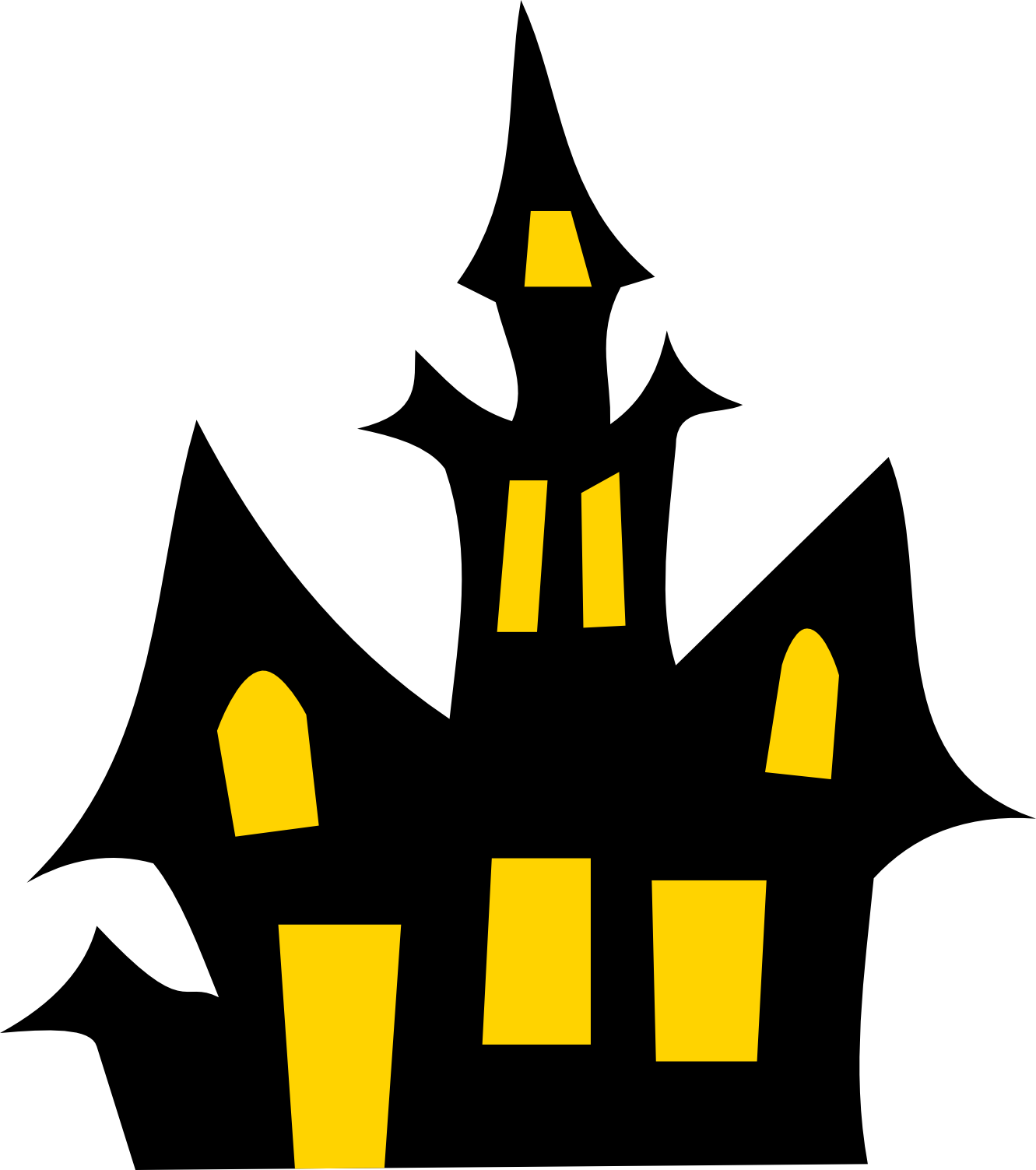Haunted Castle Clipart.