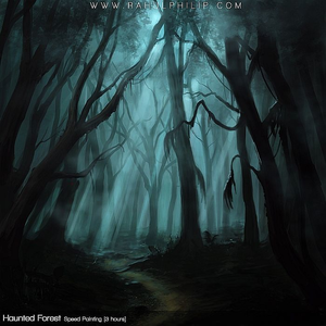 Haunted Woods Clipart.