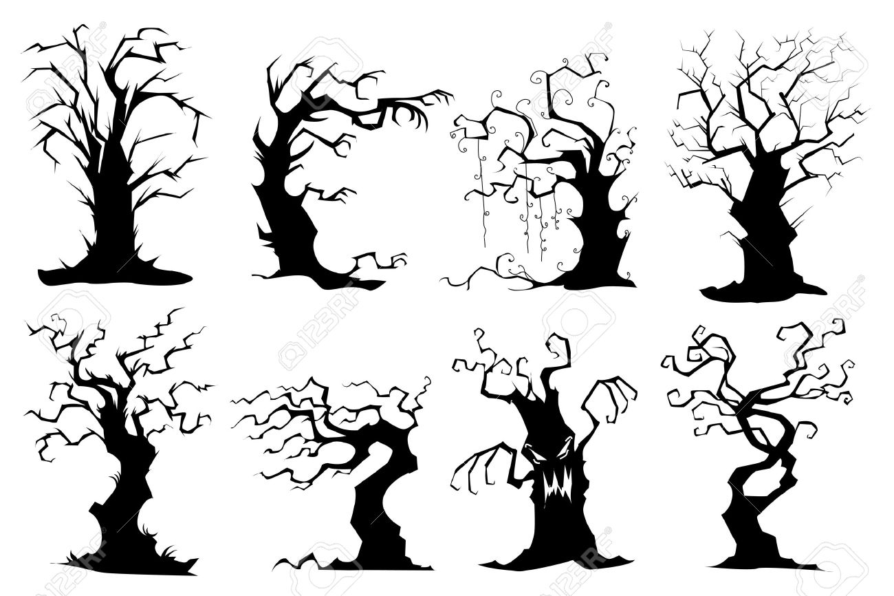 Haunted Forest Silhouette.