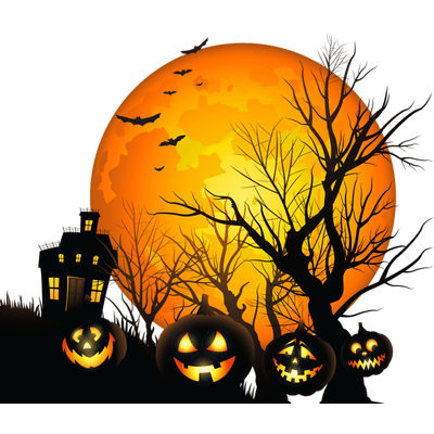 Halloween House Clipart transparent PNG.