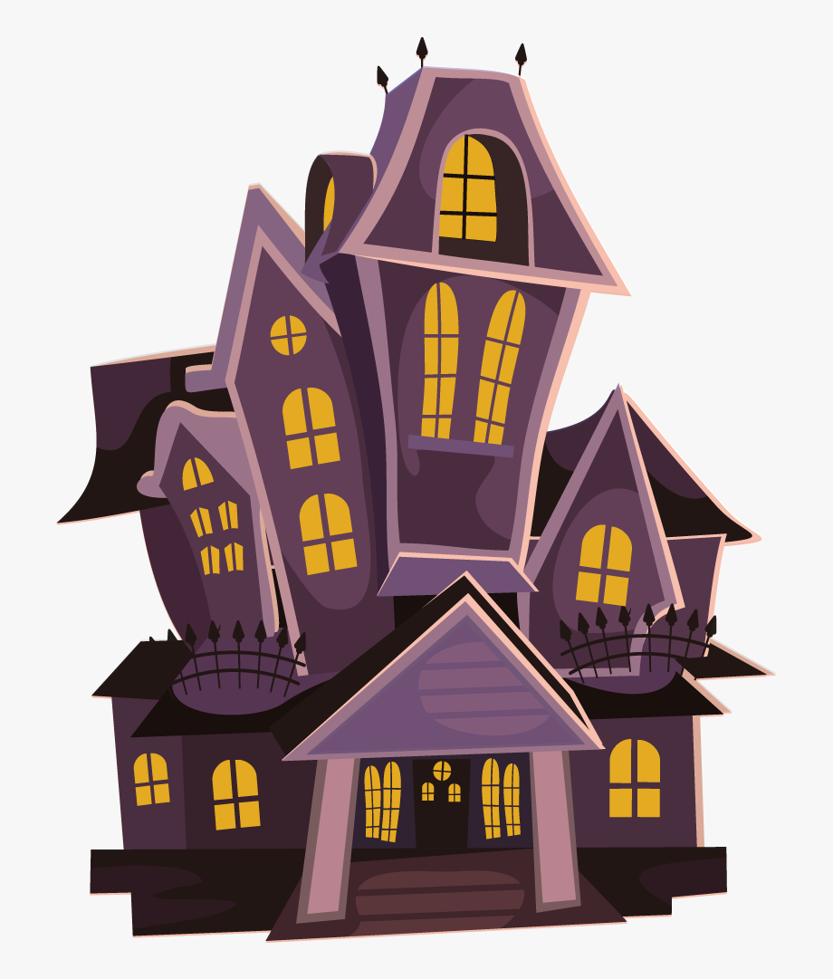 Haunted House Free To Use Clip Art.