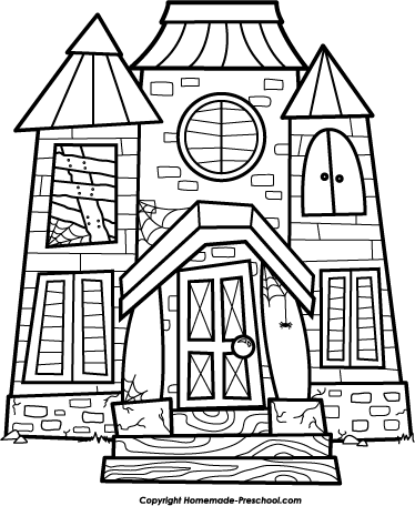 Haunted House Clipart Black And White (102+ images in Collection) Page 1.