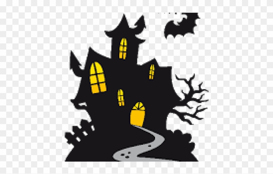 Halloween Clipart Haunted House.