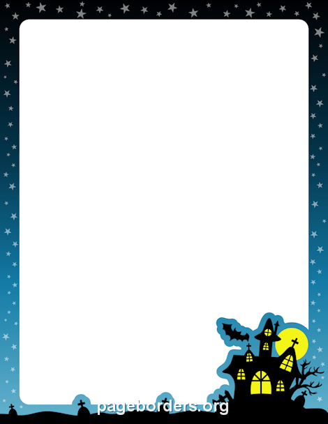 Free Halloween Borders: Clip Art, Page Borders, and Vector Graphics.
