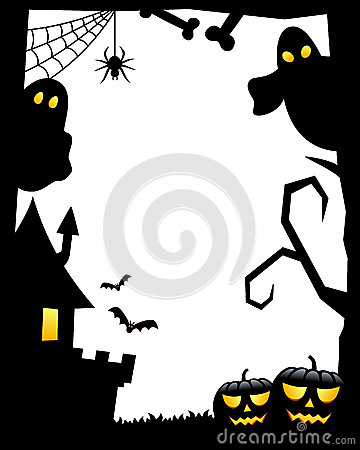 Halloween Border Royalty Free Stock Images.