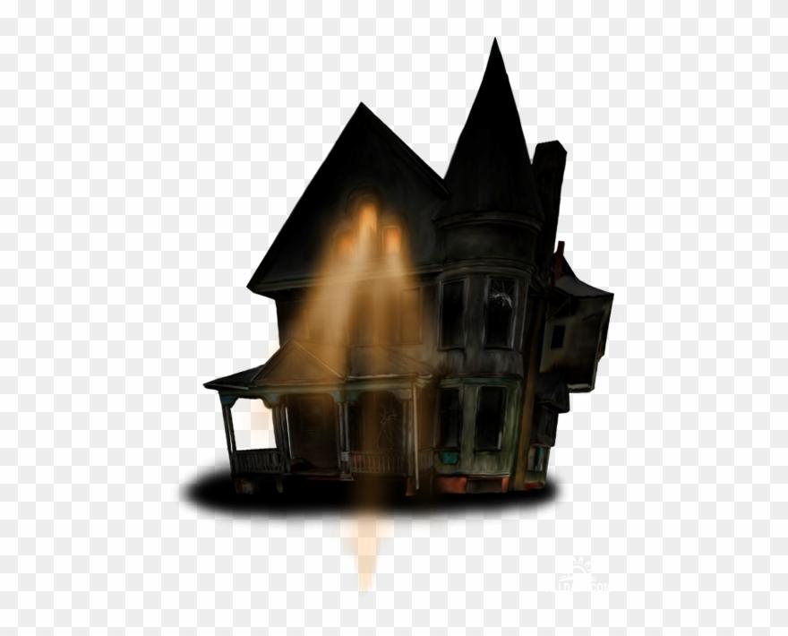 Halloween House Clip Art.