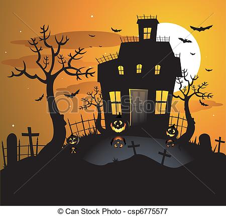 Ghost house Vector Clipart Royalty Free. 2,687 Ghost house clip.