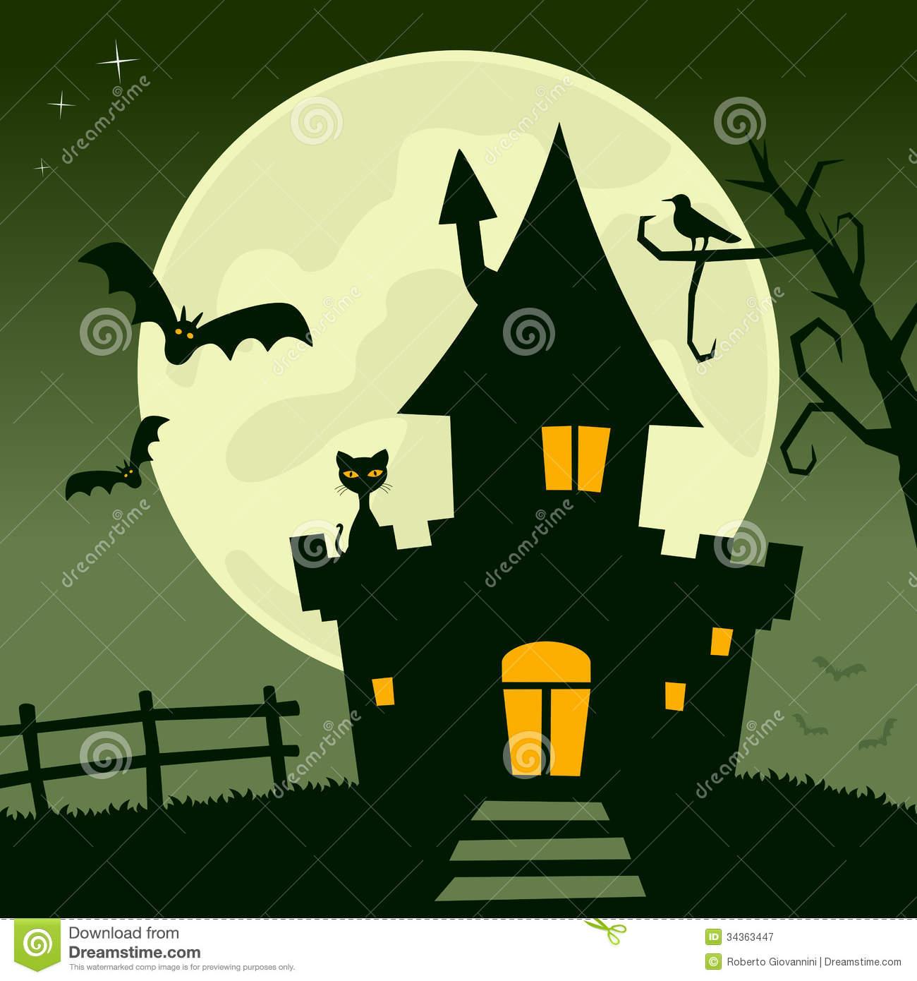 Similiar Cartoon Halloween Haunted House Ideas Keywords.
