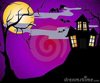 Haunted House Halloween 2 Royalty Free Stock Photos.