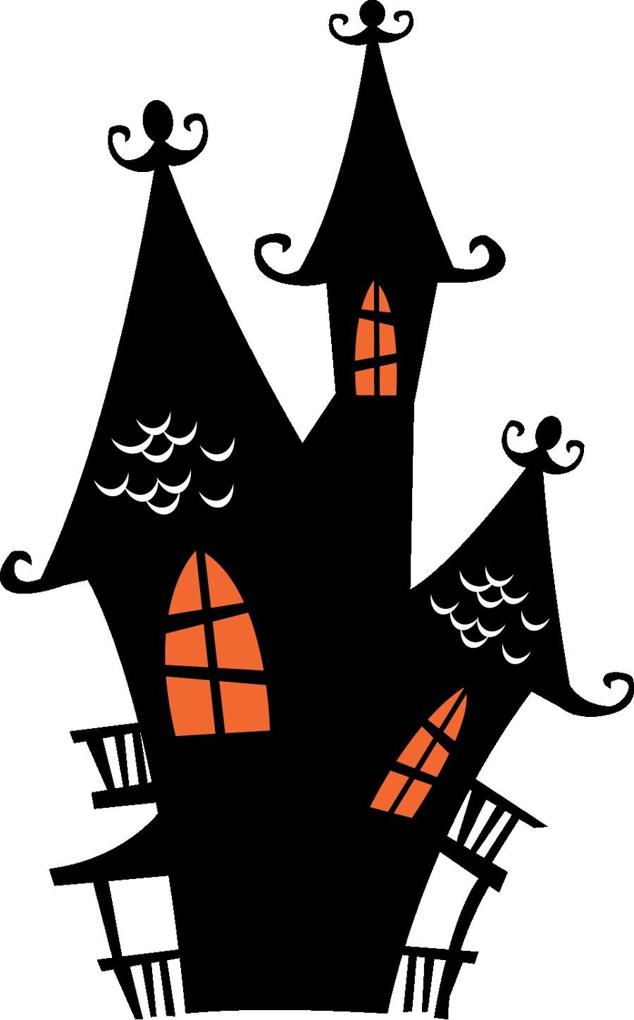 Halloween Haunted House clipart.
