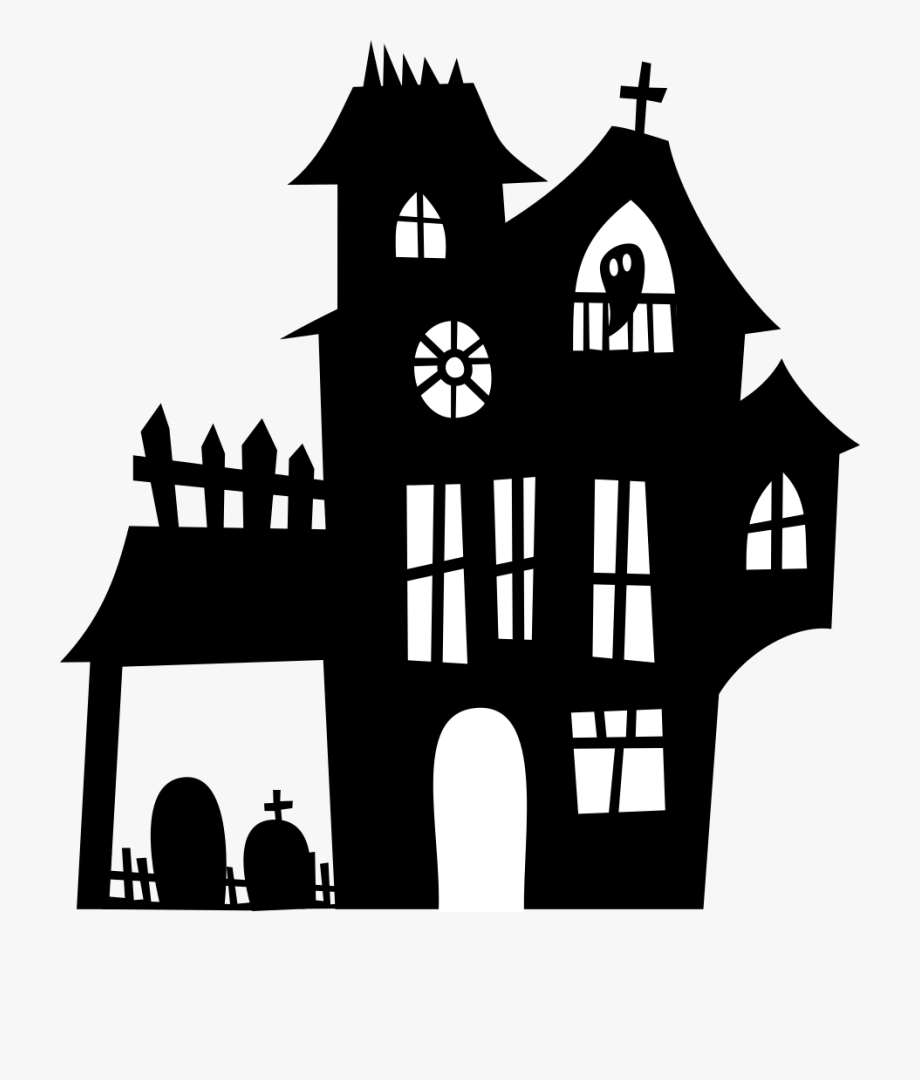 Haunted Clipart Spooky House.