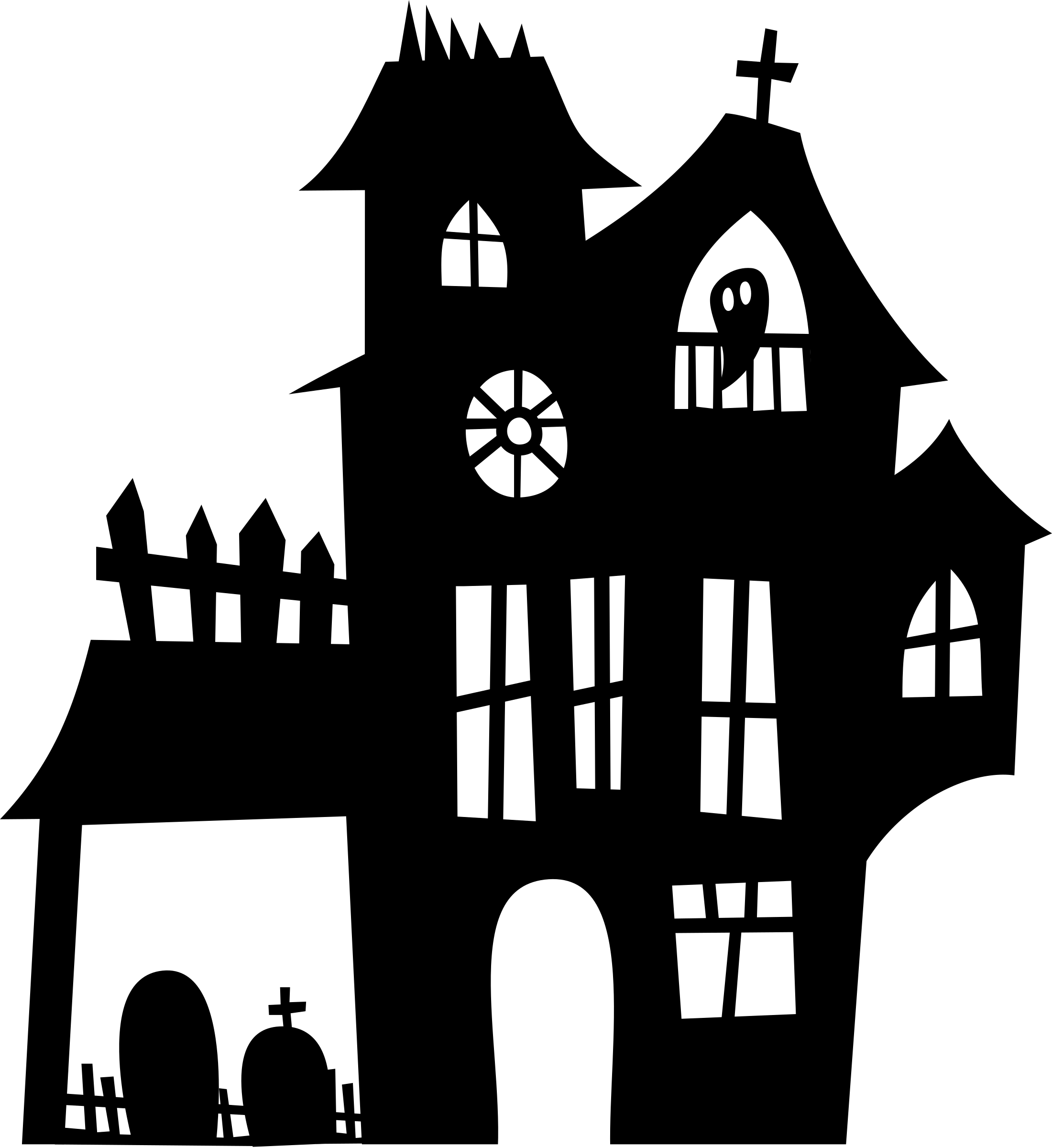 Haunted Mansion Clipart.