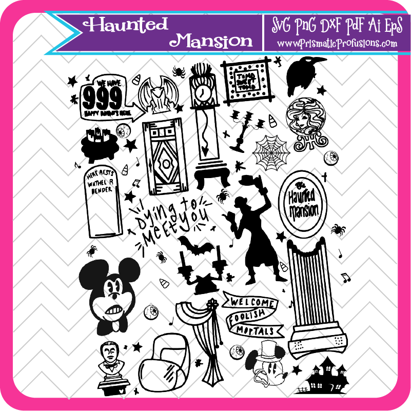 Haunted Mansion SVG, Haunted Mansion Clipart.