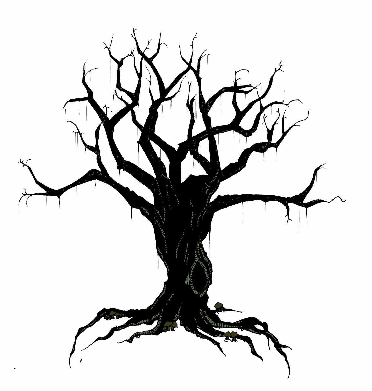 Haunted Tree Clipart.