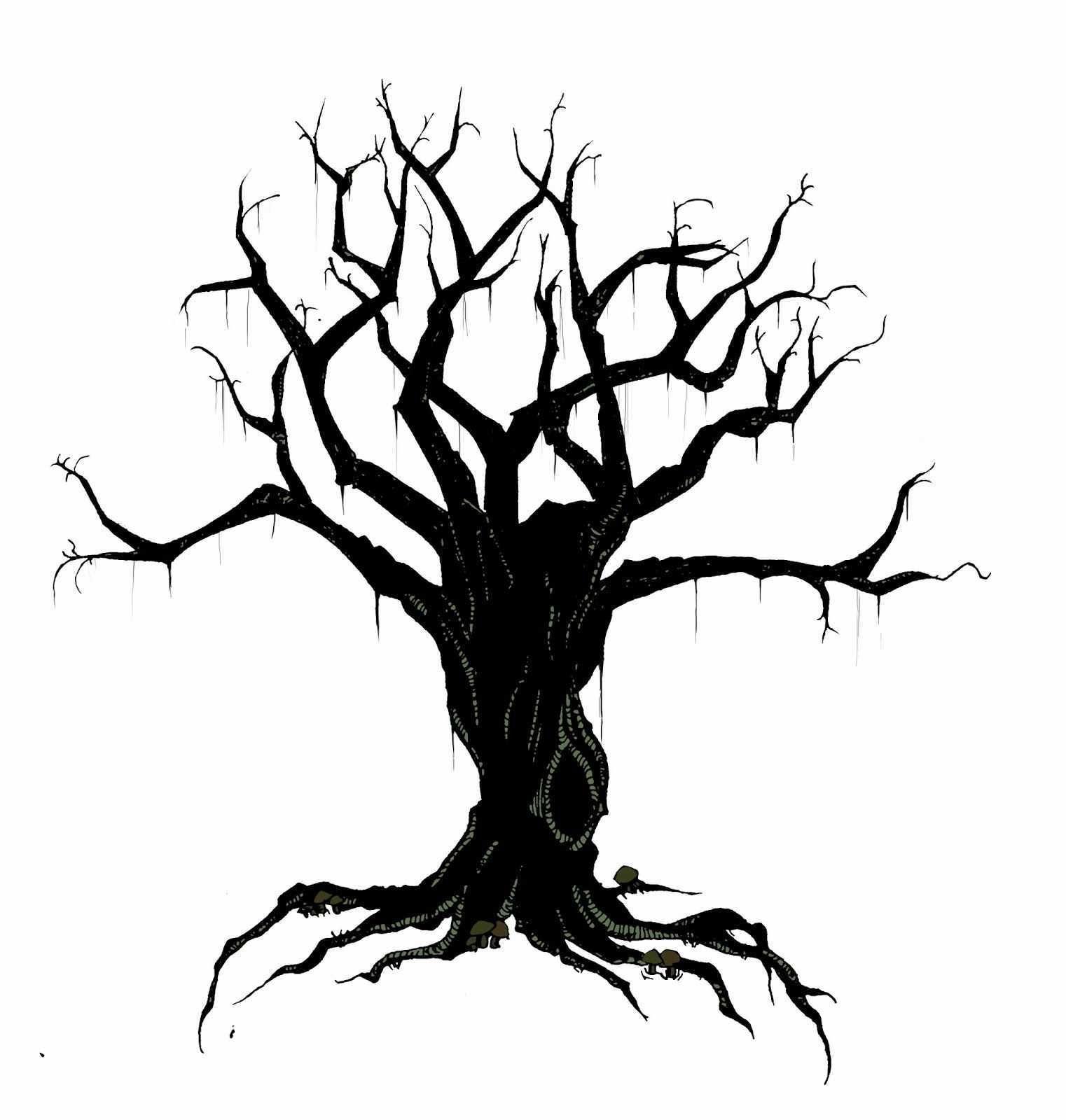 Haunted Tree Clipart.