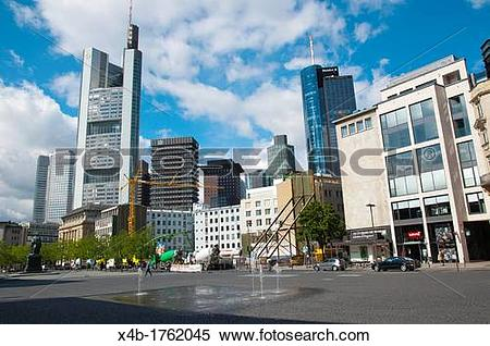 Stock Image of View towards Hauptbahnhof from Rathenauplatz square.