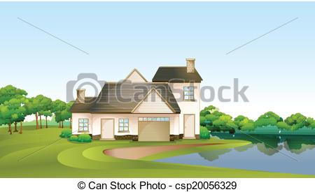 Lake house Clipart Vector Graphics. 1,103 Lake house EPS clip art.