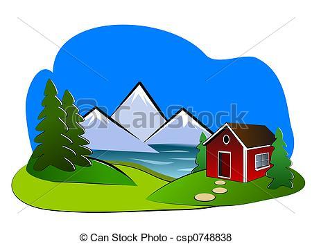 Stock Illustration von landschaftsbild, ClipArt, Ausstellung.