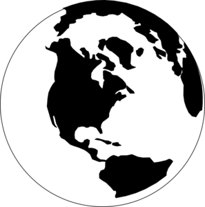Black And White World Clip Art at Clker.com.