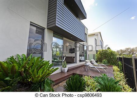 Stock Fotos von Fassade, haus, modern.