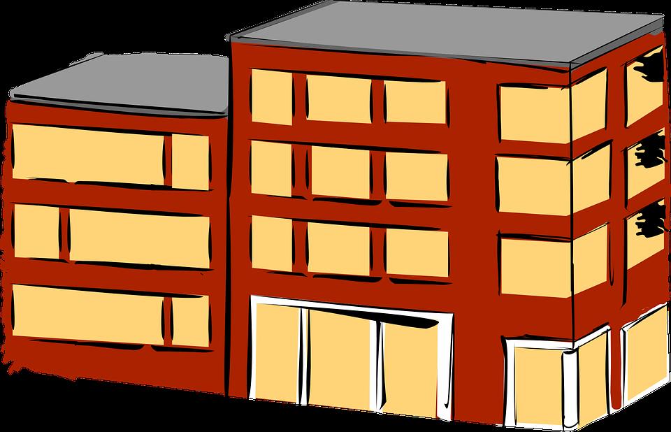 Free vector graphic: Apartment, Brick, Building, Flat.