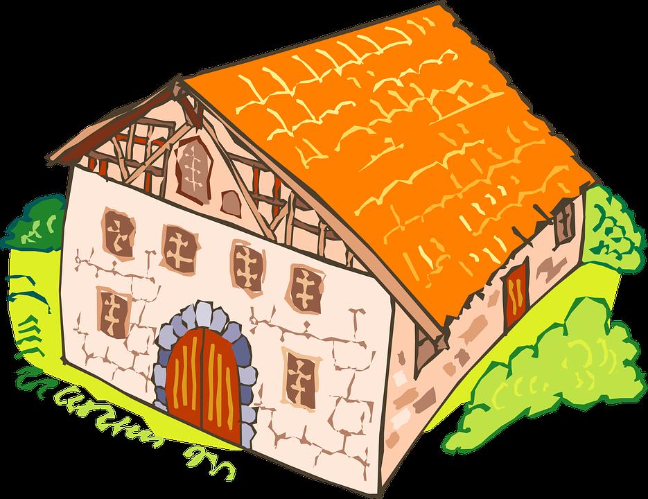 Free vector graphic: House, Brick, Large, Orange.