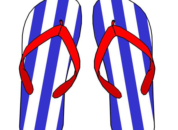Flip Flops Candid Skor Havaianas Clipart.