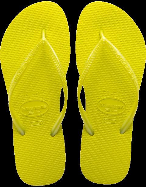 Havaianas Slim Neon Yellow Flip Flop.