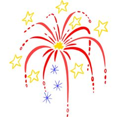 Maercon Hairstyle fireworks clipart free.