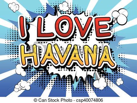 Vector Clipart of I Love Havana.
