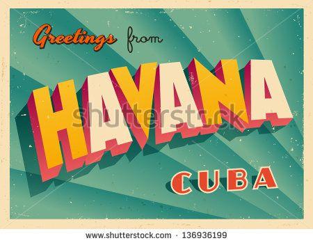 vintage havana graphic clip art.