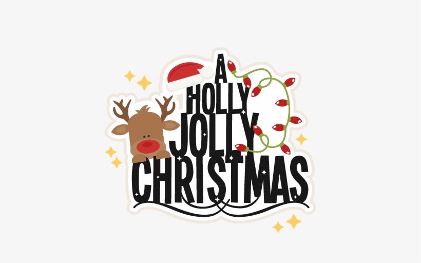 Merry Christmas Clipart Holly Jolly Christmas.