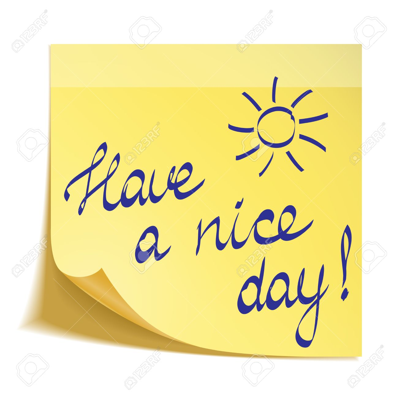 Have a nice day note.