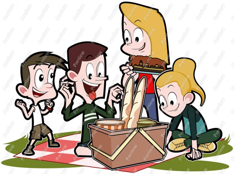 Clipart Of A Picnic.