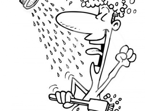 Clipart take a shower.