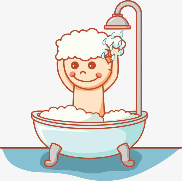To Take A Shower Clipart.