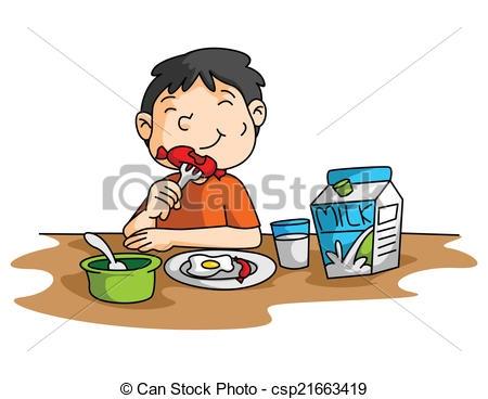 Eat breakfast clip art kids.