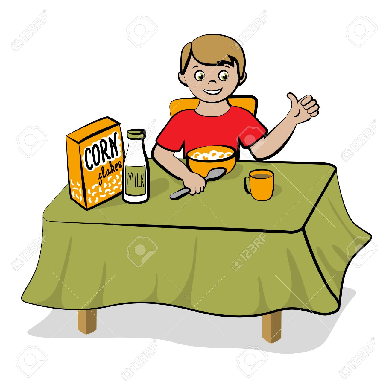 Have breakfast clipart.