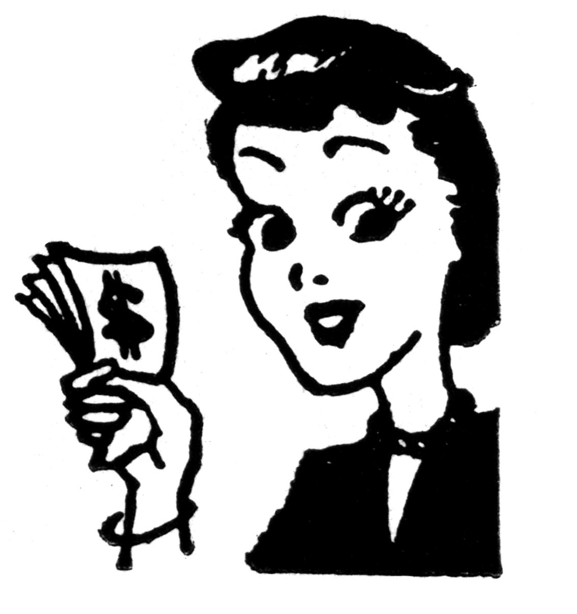 Black Woman Money Clipart.