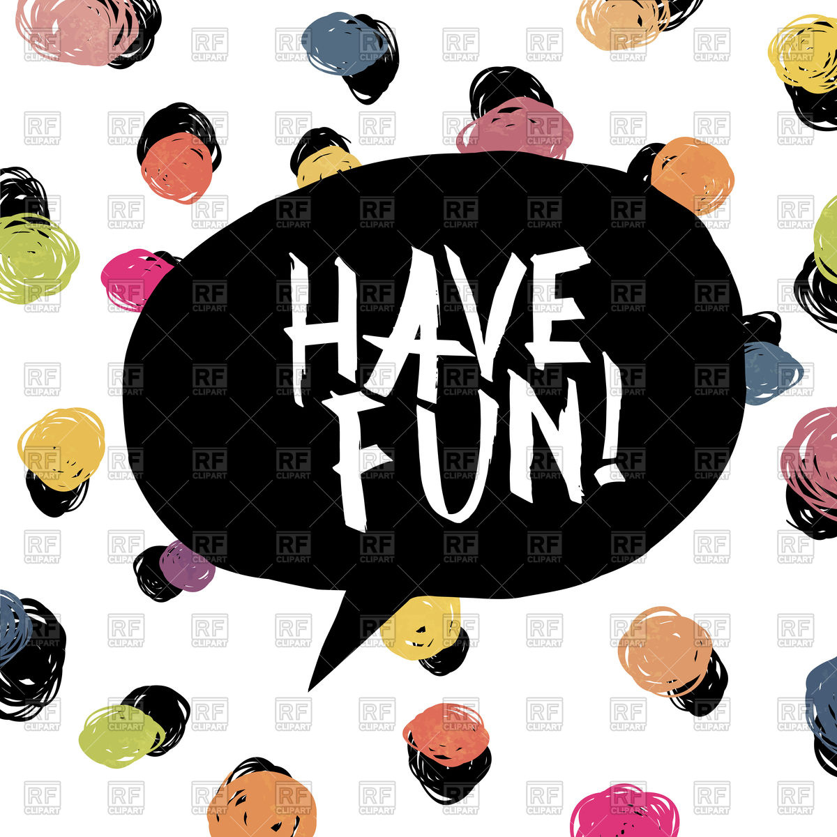 Have fun! Colorful dot background Stock Vector Image.